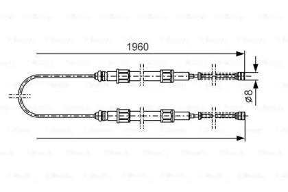 GCH1666  TRW - Трос ручного гальма