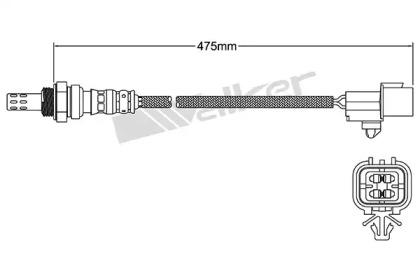 BOSCH (LV) Лямбда-зонд (4 конт.) LADA 1,5i/1,7i (ЕВРО-II, ЕВРО-III) блок управления М 7.9.7