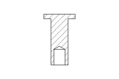 TEXTAR DB Заклепка 8*15мм тормозной накладки