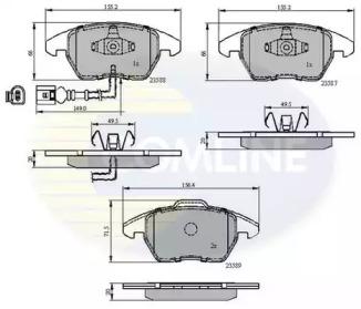 CBP11224 Comline - Гальмівні колодки до дисків